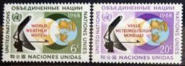 NATIONS-UNIS  NEW YORK                   N° 182/183                      NEUF** - Ungebraucht