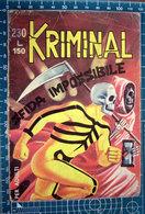 IMMAGINE  TAGLIATA DA FUMETTO ORIGINALE KRIMINAL - After 1965