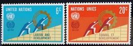 NATIONS-UNIS  NEW YORK                   N° 193/194                      NEUF** - Ungebraucht