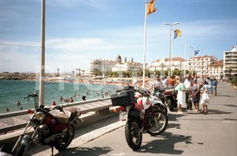 80s MOTO MOTORCYCLE HONDA 600R BARCELONA ESPANA SPAIN AMATEUR 35mm ORIGINAL NEGATIVE Not PHOTO No FOTO - Fotografia