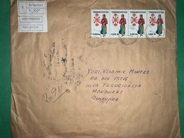 Big Registered Cover Turkmenistan 2000 ( Costumes Stamps ) - Turkmenistan