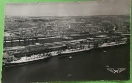 Le Havre, Le Flandre, L America, Le Liberté à Quai, Et La Gare Maritime Mai 1954 - Le Havre