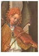 Art - Peinture Religieuse - Stephan Lochner - Aus Dem Weltgerichtsaltar - Geige Spielender Engel - Anges Musiciens - CPM - Paintings