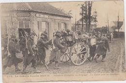 Pervijze - Franse Infanterie In Belgie (gelopen Kaart Zonder Zegel) Originele Kaart - Weltkrieg 1914-18