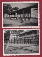 ANGOLA - CHINGUAR - LOTE 2 PCS - ESTAÇÃO DO CAMINHO DE FERRO DE BENGUELA - 1940 REAL PHOTO - Fotografia