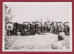 PORTUGAL - CARREGUEIRA - BANDA MILITAR TOCANDO NA MESSE DA 2ª COMPANHIA - 1946 REAL PHOTO - Fotografia