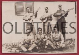 PORTUGAL - CONJUNTO DE MÚSICOS MILITARES - 1920 REAL PHOTO - Fotografia