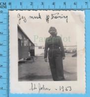 Photo Gabby Jetté De Magog, Portant Un Masque A Gaz  St-John RCAF Cours 1953 - Photos