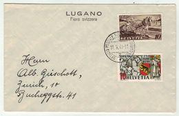 Suisse /Schweiz/Svizzera/Switzerland  // 1940-1949 // Lettre Pour Zurich (BPA Lugano Fiera Svizzera) 11.10.1941 - Covers & Documents