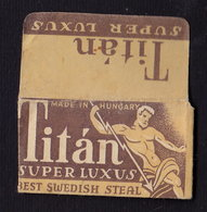 TITAN Razor Blade Old Vintage WRAPPER (see Sales Conditions) - Razor Blades