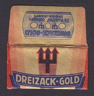 DREIZACK (krampus) Razor Blade Old Vintage WRAPPER (see Sales Conditions) - Razor Blades