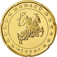 Monaco, 20 Euro Cent, Prince Rainier III, 2004, Proof, FDC, Laiton, KM:171 - Monaco