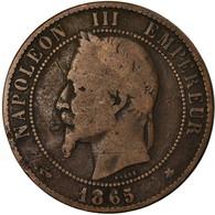 Monnaie, France, Napoleon III, Napoléon III, 10 Centimes, 1865, Paris, TB - D. 10 Centimes
