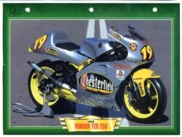 YAMAHA YZR 250 1999  Technique Illustrée Documentée Motos De Course Fiche  Moto - Sports