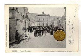 Scicli Ragusa Piazza Busacca   VIAGGIATA 1903 Rara Animata - Ragusa