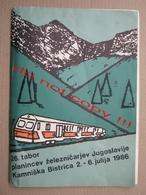 Mountaineering Folder / 26. Tabor Planincev železničarjev Jugoslavije - Kamniška Bistrica, Slovenia ( 1986 ) - Alpinisme