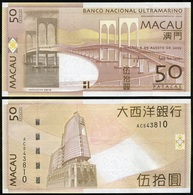 Macao Macau - 50 Patacas 2009 UNC P. 81Aa BNU Lemberg-Zp - Macau