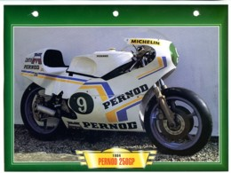 PERNOD 250GP 1984 Technique  Illustrée Documentée  Motos De Course Fiche  Moto - Sports
