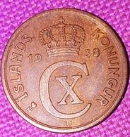 IJSLAND: RARE 2 AURAR 1938 KM 6.1 - Islande