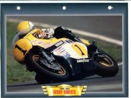 KENNY ROBERTS  Pilote  Technique  Illustrée Documentée  Motos Courses Competition Sport Fiche  Moto - Sports