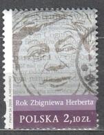 Poland  2008 -  Year Of Zbigniew Herbert - Mi 4404 - Used - Usati