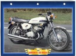 KAWASAKI H1 500 MACH III  1969  Technique Illustrée Documentée Motos De Légende Fiche  Moto - Sports