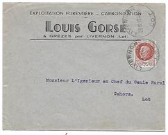 Env. 46 Grèzes - LIVERNON - Louis GORSE 1942 - 1900 – 1949