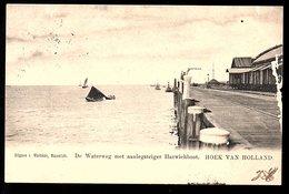 ± 1900 Hoek Van Holland Grootrond Harwichboot Bij De Aanlegsteiger (beschadigd Rechts) (137-16) - Hoek Van Holland