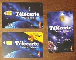 MAROC TELECOM LOT DE 3 TÉLÉCARTES PHONECARD CARD - Morocco