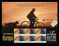 Spain 2020 Mih. 5443 Europa. Ancient Postal Routes. Bicycle. Dog (M/S) MNH ** - 2011-... Nuevos & Fijasellos