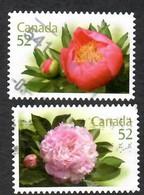 Sc. # 2261 & 62 Flowers Peonies Booklet Pair Used  2008 K606 - 1952-.... Règne D'Elizabeth II