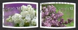 Sc. # 2207 & 08 Flowers Lilacs  Booklet Pair Used  2007 K607 - 1952-.... Règne D'Elizabeth II