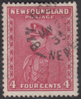 Newfoundland 1932-37 Used Sc #189 Bay Roberts, Newf'd May 20 35 Split Circle - 1908-1947