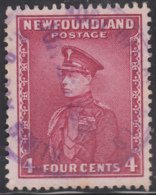 Newfoundland 1932-37 Used Sc #189 POST OFFICE NFLD N.D. BAY SOUTH Jun 23 193? Ry78a - 1908-1947