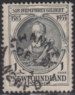 Newfoundland 1933 Used Sc #209 Channel, Newf'd DE 22 33 Split Circle - 1908-1947