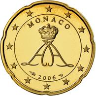 Monaco, 20 Euro Cent, Prince Albert, 2006, Proof, FDC, Laiton, KM:182 - Monaco
