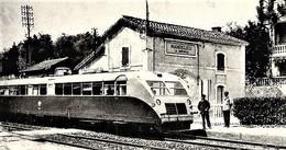 Autorail Bugatti  A  Mandelieu-La Napoule   -  15x10cms PHOTO - Trains