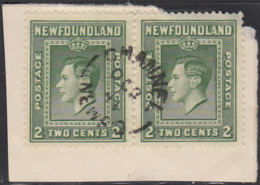 Newfoundland 1938 Used Sc #245 Pair Channel, Newf'd OC 3 41 Split Circle - 1908-1947