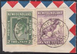 Newfoundland 1938 Used Sc #245, #257 Carbonear, Newf'd MR 1 49 Split Circle - 1908-1947
