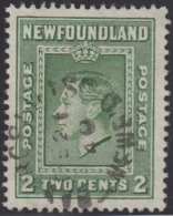Newfoundland 1938 Used Sc #245 Bay Roberts, Newf'd DE 21 40 Split Circle - 1908-1947