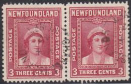 Newfoundland 1938 Used Sc #246 Pair Change Islands, Newf'd ? 14 42 Split Circle - 1908-1947