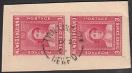 Newfoundland 1938 Used Sc #246 Pair Twilingate, Newf'd OC 2 4? Split Circle - 1908-1947