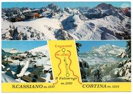 Vedute Di S. Cassiano E Cortina Con Lagazuoi - Italia