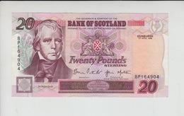 AB119. Bank Of Scotland £20 Banknote 1st April 1998. #BP164904. FREE UK P+P - [ 3] Scotland