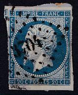 TIMBRE - 1853 NAPOLÉON III De FRANCE Sur PETIT FRAGMENT De LETTRE - CACHET : PC 3704 - ALEXANDRIE / EGYPTE (ae769) - 1853-1860 Napoléon III