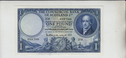 AB503 Commercial Bank Of Scotland Ltd £1 Note 3rd Jan 1956 #27H 059709. - [ 3] Scotland