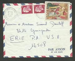 Cheffer & Primitif Savoie / Lettre Avion MONTAYRAL - LOT ET GARONNE 17.06.1970 >>> USA - Postmark Collection (Covers)