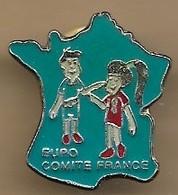 "Pin's ""Euro Comité France"" Carte France Métropolitaine Propagande Européiste (1992 Traité De Maastricht ?) - Administración"