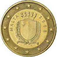 Malte, 50 Euro Cent, 2008, TTB+, Laiton, KM:130 - Malta