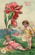 Enfant Illustré 515, Ange Facteur Oeillet Paillettes Gaufré - Dessins D'enfants